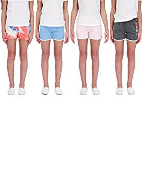 Star Ride Sweet Butterfly 4PK Girls Athletic Shorts Dolphin Yoga Shorts Girls Workout Clothes  Blue-Tie Dye-Pink-Charcoal 6X