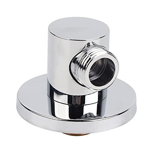 Conector de manguera de ducha, conector de manguera de ducha de cobre para el hogar, montado en la pared, codo de pared, accesorios de baño, G1/2 pulgadas para la mayoría de las mangueras de ducha