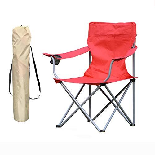 ZPWSNH Klappstuhl Outdoor Campingstuhl tragbarer Stuhl Strandstuhl Angelstuhl Hocker Rot Klappstuhl