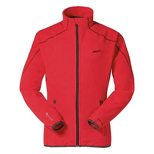 Musto Herren Essential Evo Fleece-Jacke mit 3/4-Reißverschluss (2XL) (Rot)