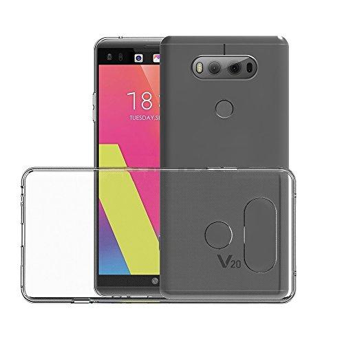 REY Funda Carcasa Gel Transparente para LG V20, Ultra Fina 0,33mm, Silicona TPU de Alta Resistencia y Flexibilidad