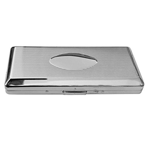 SILBERKANNE Zigaretten Zigarillo Etui doppelseitig 4,6x10,8 cm Silber Plated versilbert in Premium Verarbeitung