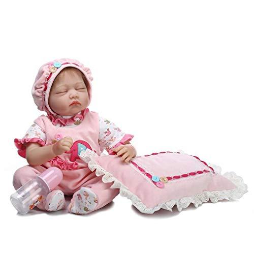 SXFJF Reborn Babypuppe, 55 cm, große Größe, weicher Körper, Baby-Puppe für Mädchen und Jungen, Spielzeug, lebensechte weiche Vinyl-Babypuppen mit Daunensyndrom und beweglichen Gliedmaßen, rosa
