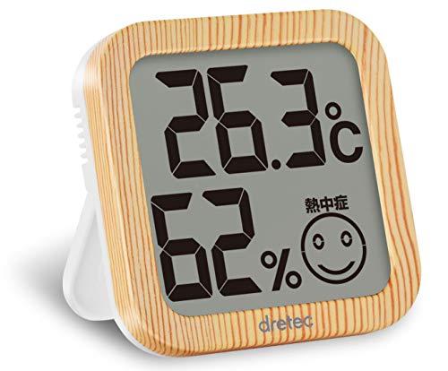 dretec(ドリテック) 温湿度計 デジタル 温度計 湿度計 大画面 コンパクト O-271NW(ナチュラルウッド)