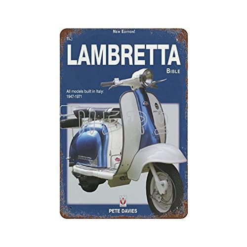 XREE Lamberta Innocenti Scooter motocicleta F Art Cartel de lata 30 x 40 cm vintage accesorios para el hogar displate Tin signos retro placas de metal pintura hierro Rusty Poster