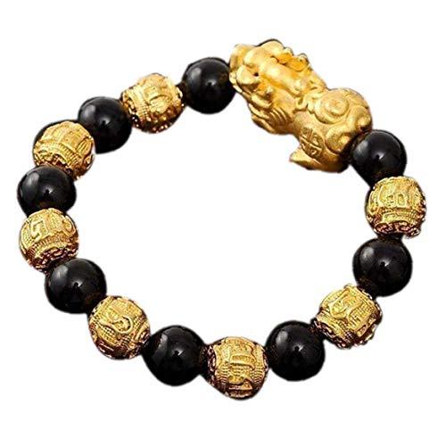DINEGG Pulsera de Pixiu de Obsidiana Negra Bangele de Piedra Natural con joyería de Ojo de Tigre QQQNE (Color : Style 3)