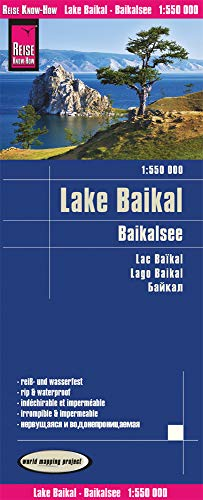 Reise Know-How Landkarte Baikalsee (1:550.000): world mapping project: reiß- und wasserfest (world mapping project)