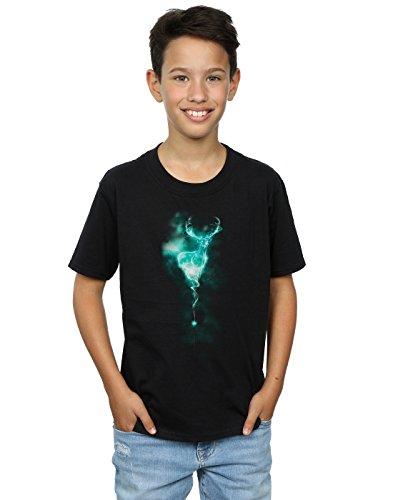 Harry Potter Jungen Stag Patronus Mist T-Shirt 12-13 Years Schwarz