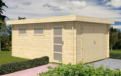 Alpholz Garaje de madera con techo plano, modelo C-70 ISO, 7