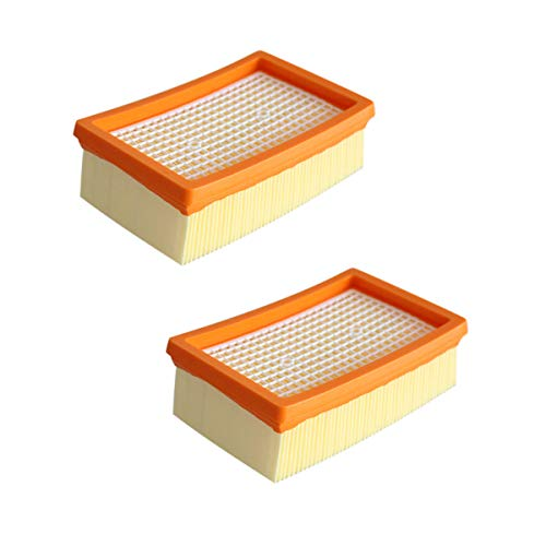 Rediboom 2 Stück Flachfaltenfilter für Kärcher Mehrzwecksauger WD4 / WD5 / WD6 / MV4 / MV5 / MV6, Ersetzt Filter zu Kärcher 2.863-005.0