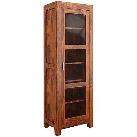 The Attic Victoria Sheesham Kitchen Cabinet Honey,1 Door