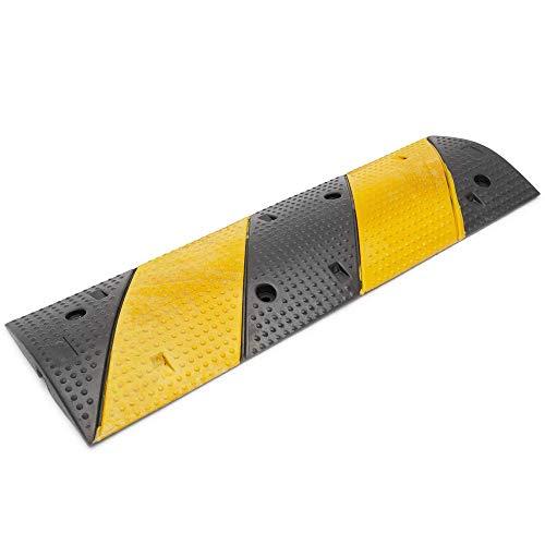 PrimeMatik - Pasacables de Suelo para protección de Cables eléctricos 1 vía 99x30 cm y Reductor de Velocidad
