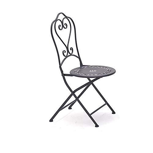 XUEPING Tabouret De Bar, Tables Et Chaises D'extérieur, Combinaison De Jardin en Fer Forgé, Ensemble De Patio Extérieur, Café Pliage Creux Balcon De Jardin Table De Loisirs (Couleur : Bar Stool)
