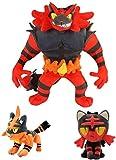 UYIKEA Incineroar Pokemon Plush Toys Litten Torracat Aurora Elf Soothe Animal Soft Doll Movie Gift Toy LLLDN