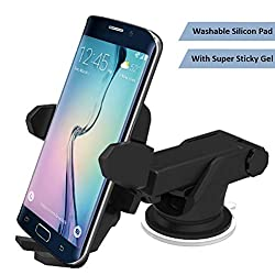 Abronix 360 Degree Swivel Extendable Adjustable Mount Cradle Car Mobile Phone Holder for iPhone Series, Galaxy Note Series and Other Smartphones