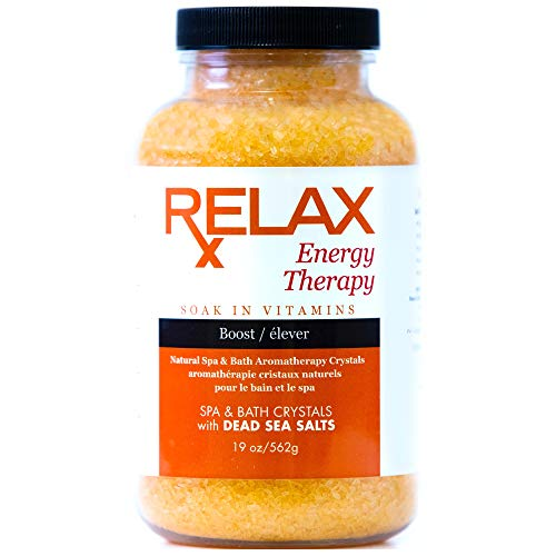 Relax Energy and Stress Aromatherapy Dead Sea Bath Salts, 19 Ounce Bottle, Pack of Two, Crystals Infused with Essential Oils for Recovery and Relaxation, Safe for Spa, Bath, and Whirlpool2