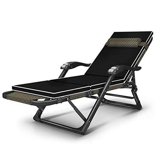 Chaise Longue de gravité zéro, chaises de Plate-Forme Se Pliant Plus Larges d'accoudoir de Chaise Longue de Soleil préside Le Coussin de Coussin de relaxeur avec l'appui d'appui-tête réglable 200KG