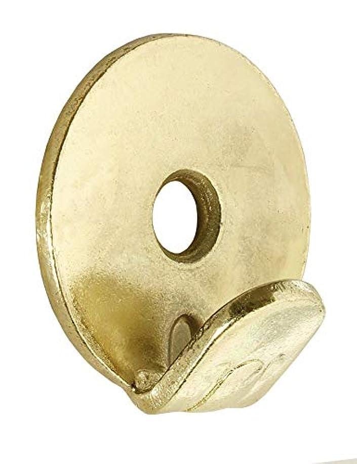 Merriway BH06719 1-Hole Brass Plated Heavy Duty Wall Hooks-Gold Finish, Tone