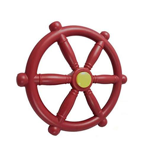 Stronrive Schiffslenkrad Piratenlenkrad Spielturm Kunststoff Lenkrad Spielschiff Zubehör für Kinder Kletterturm
