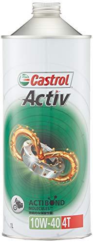 カストロール エンジンオイル Activ 4T 10W-40 1L 二輪車4サイクルエンジン用部分合成油 MA Castrol