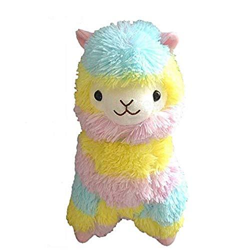 Morbuy Peluche Toy Mignon alpaga Lama en Peluche Peluches Arc-en-Ciel en Peluche Alpaga 45 cm de Haut en Animaux en Jouets (Arc-en-Ciel A-45CM)