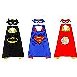 3 piezas de disfraces de superhéroe para niños, 3 máscaras de superhéroe, para fiesta de Halloween para niños, disfraces de carnaval, disfraz de cosplay.