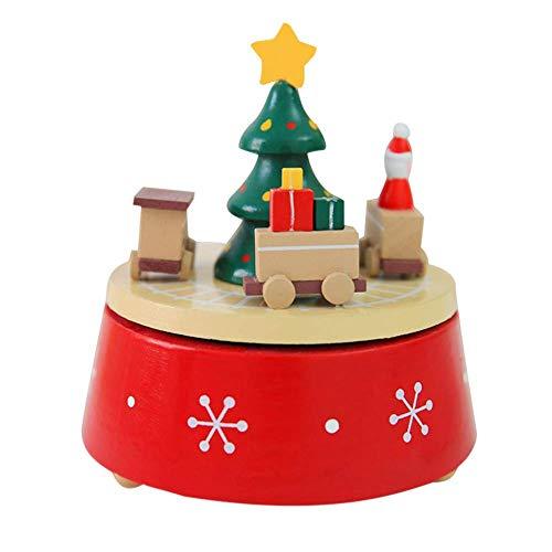 AJMINI kerstversiering kerstman/carrousel muzikale doos voor kinderen - kinderen muzikale doos