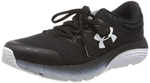 Under Armour Women's Charged Bandit 5 Running Shoe, Black/White, 8