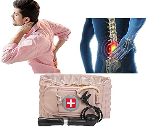 Gcm Back Decompression Belt Lumbar Support For Back Inflatable Waist Belt Pain Relief- Lower Back Traction Device For Women & Men One Size Fits 29-49 Wais
