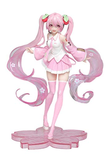 No Alto 18 CM Hatsune Miku 2020 Sakura Hatsune Escultura en Caja Modelo de Regalo Obra de Arte Anime