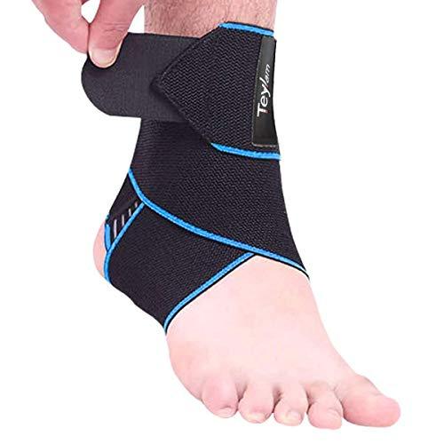Teylam Knöchelbandage, Einstellbares Sprunggelenkbandage, Flexible Fußbandage, Ultra Dünn Knöchelstütze, Laufen Fussball, Rechte und Linke Fußgelenk