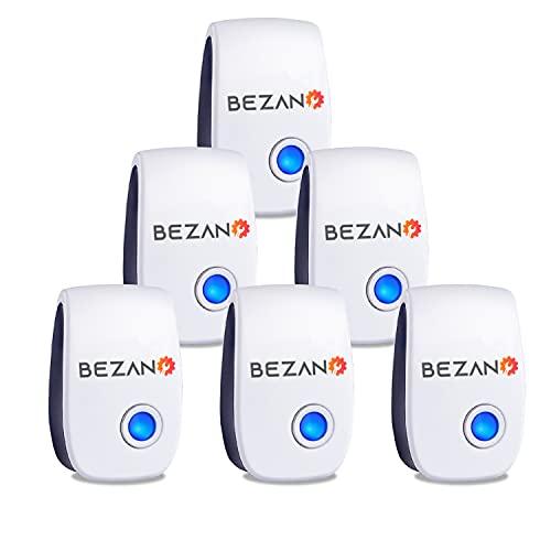 BEZANO 6 Packs Ultrasonic Pest Repeller - Spider Repellent - Spider Repellent Plug in for Rodents,...