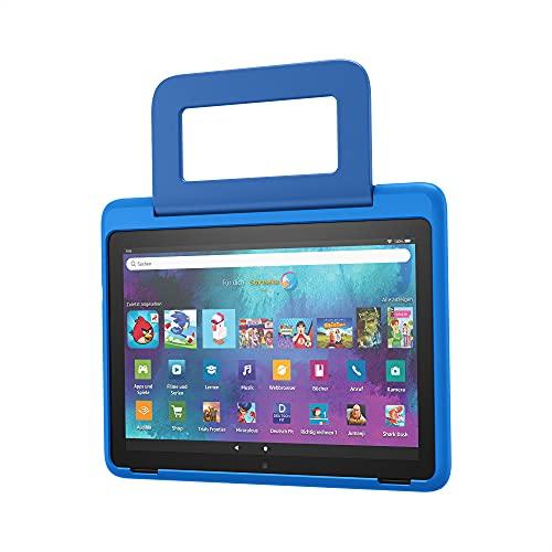 Kindgerechte Hülle von Amazon für das Fire HD 10-Tablet (nur kompatibel mit Tablets der 11. Generation, 2021), Raumschiffe-Design
