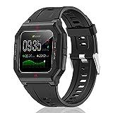 """HopoFit Smartwatch, Orologio Fitness Tracker con Cardiofrequenzimetro da Polso, Contapassi, Notifiche Messaggi, 1.3"""" Touch Bluetooth Smart Watch Bambini Donna Uomo per iOS Android Smartphone (Nero)"""