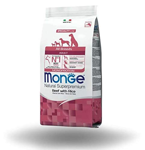 Monge monoproteico manzo e roso 12 kg all breeds