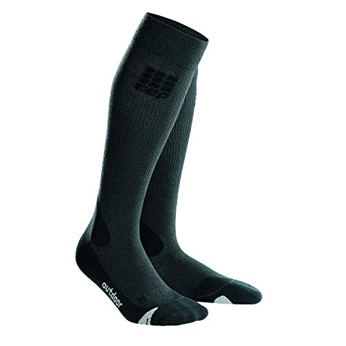 CEP Damen Pro+ Outdoor Merino Chaussettes Socken, Grau (Grey/Black), II