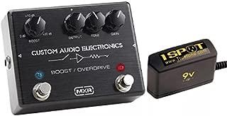 MXR Custom Audio Electronics MC-402 Boost Overdrive Bundle w/Truetone 1 Spot Space Saving 9v Adapter