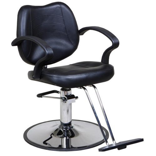 "Icarus""Mae"" Black Classic Beauty Salon Hydraulic Styling Chair"