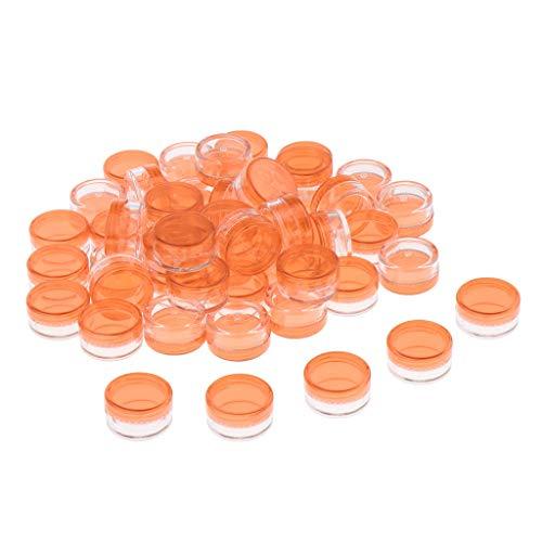 T TOOYFUL 50 Stücke 5ml Leere Runde Cremedose Make-Up Behälter Reise Glas-Topf Döschen für Lidschatten, Lippenbalsam, Cremes, Salben, Blau