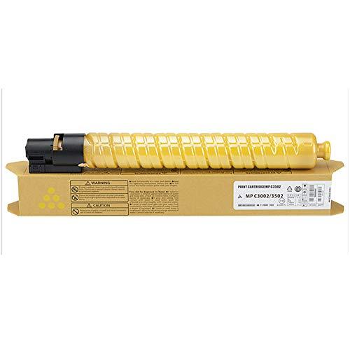 Geeignet für Ricoh MP C3502 Pulverbox Aficio C3002 Kopierer Toner Toner Farbpulver kann ca. 21000 Seiten drucken-yellow