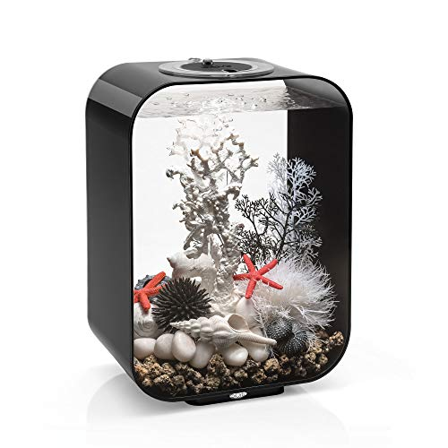 biOrb Life 15 Aquarium with MCR - 4 Gallon, Black