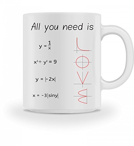 Chorchester Hochwertige Tasse - All you need is - Mathematik
