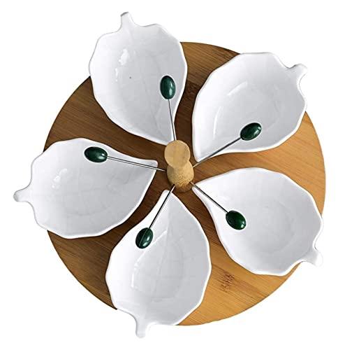 Piastra di frutta Soggiorno Soggiorno Dry Sub Snacks dadi frutta scatole torta con coperchio torta cake raccordo cestino di frutta cestino nordico stile ceramica ceramica vassoio secco piastra frutta