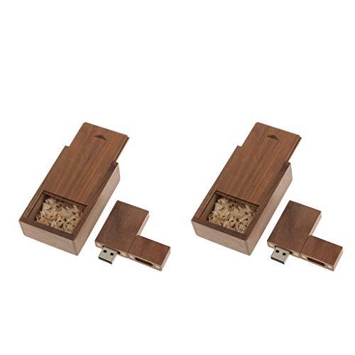 gazechimp 32 GB + 16 GB com Logotipo Personalizado DIY Walnut Wood Pen Drive Flash Drive