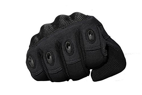TACVASEN Taktische Handschuhe Winter Motorrad Handschuhe Herren Vollfinger Army Gloves Biking Ski Handschuhe (Schwarz, M) - 6