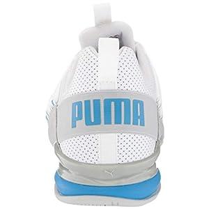 PUMA Men's Axelion Perf Cross-Trainer, White-nrgy Blue, 12