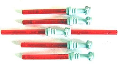 LEGO STAR WARS - 4 rote Laserschwerter Lichtschwerter + Doppel-Laserschwert