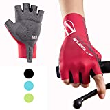 Hikenture Half Finger Cycling Gloves for Men and Women Padded Road...