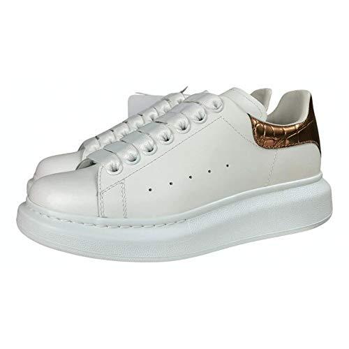 Alexander McQueen White Gold Croc Oversize Sneakers New FW20 (9)