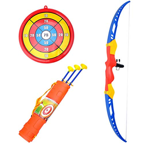 RCTOYS Kids Bow and Arrow Set with 3 Suction Cup Arrows, Target - Safe Toy Archery Game Kit for Boys and Girls Best Gift